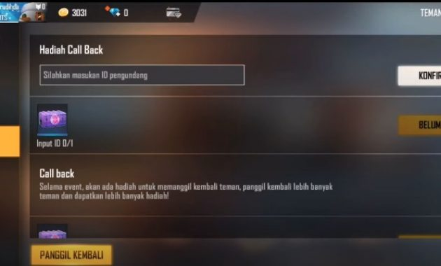 How to Complete the Free Fire Callback Event