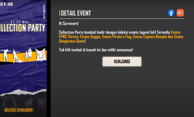 Collection party Free Fire 2021